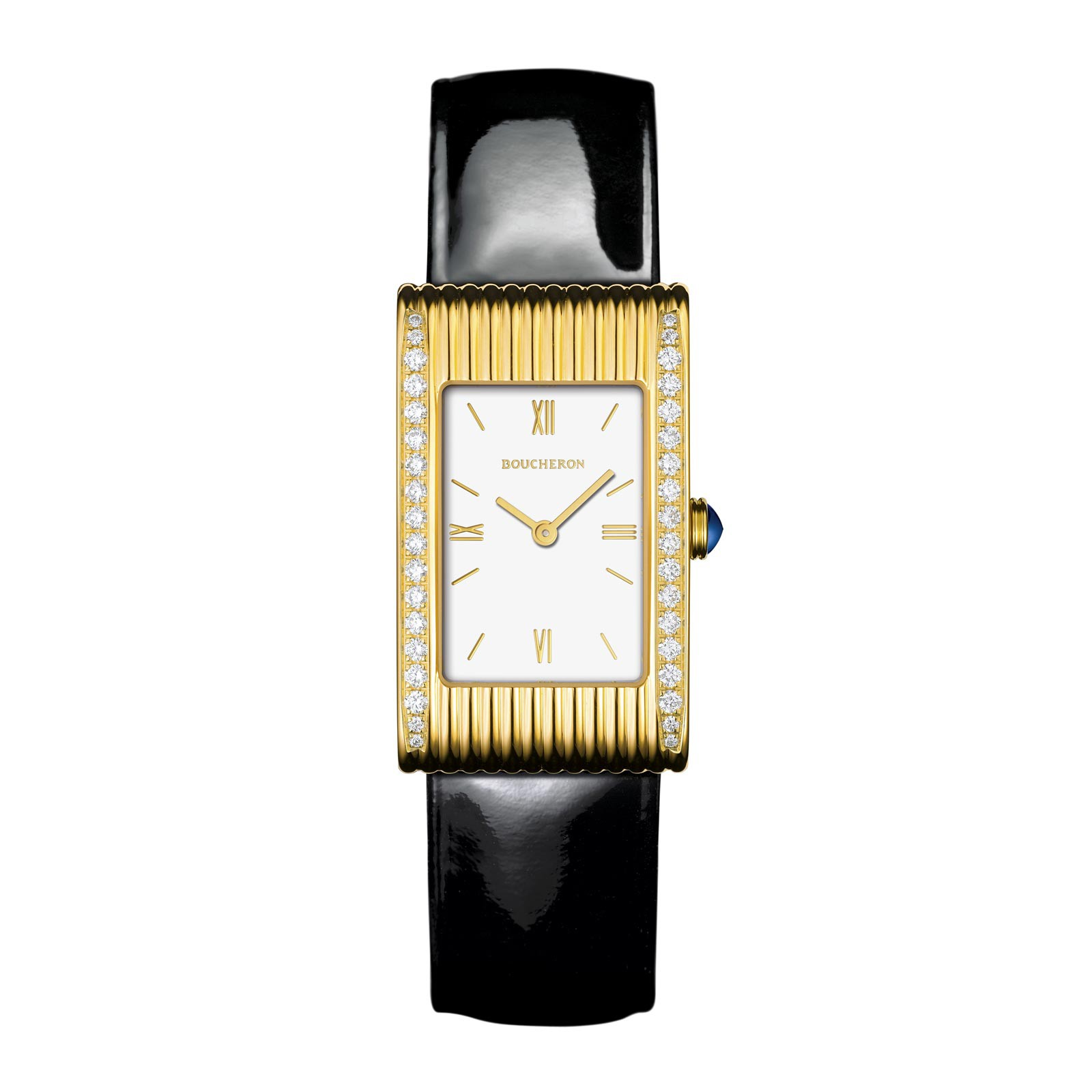 Boucheron Reflet Medium Yellow Gold Case White Dial Watch