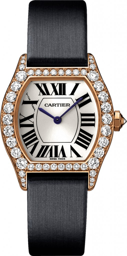 Cartier Tortue Black Fabric Strap Copy Watches