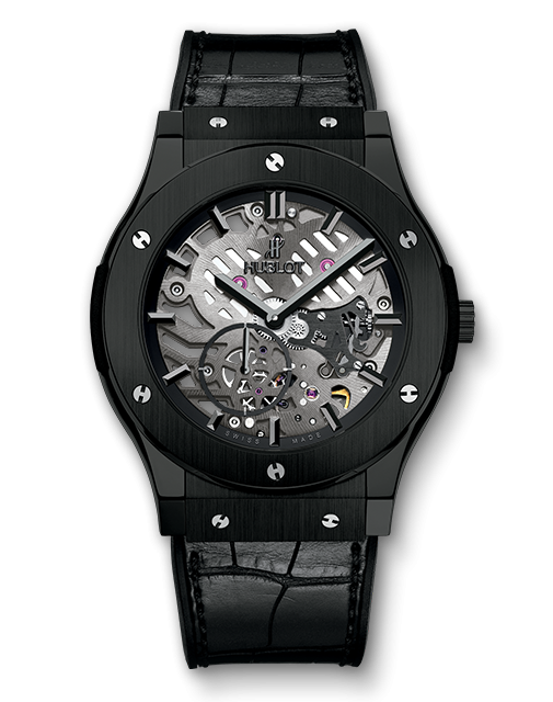 Hublot Classic Fusion Ultra-Thin All Black Copy Watches