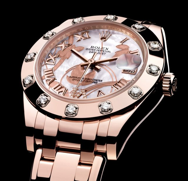 UK Rolex Pearlmaster 34 Everose Gold Copy Watches