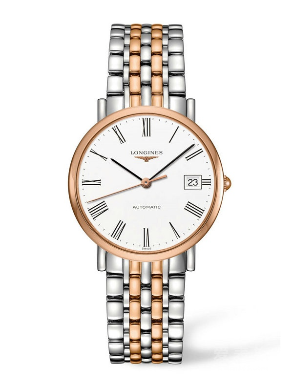 Longines Elegant Stainless Steel & Rose Gold Automatic replica