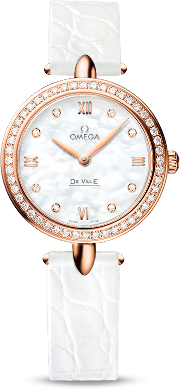 omega-de-ville-fake-white-leather-straps-red-gold-cases