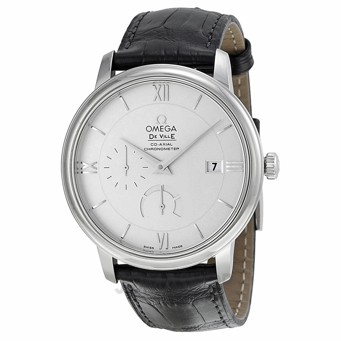 omega-de-ville-fakesilver-dial-black-leather-swiss-brand