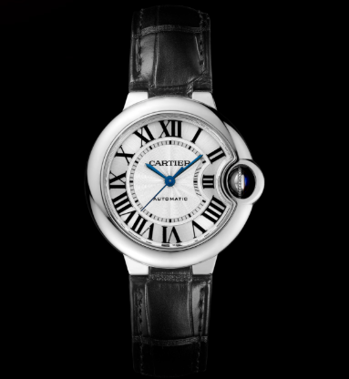 Cartier-Ballon-Bleu-Black-Leather-Straps-Copy