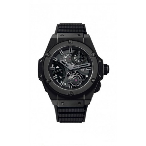 The sturdy replica Hublot King Power 706.CI.1110.RX watches are made from black ceramic.