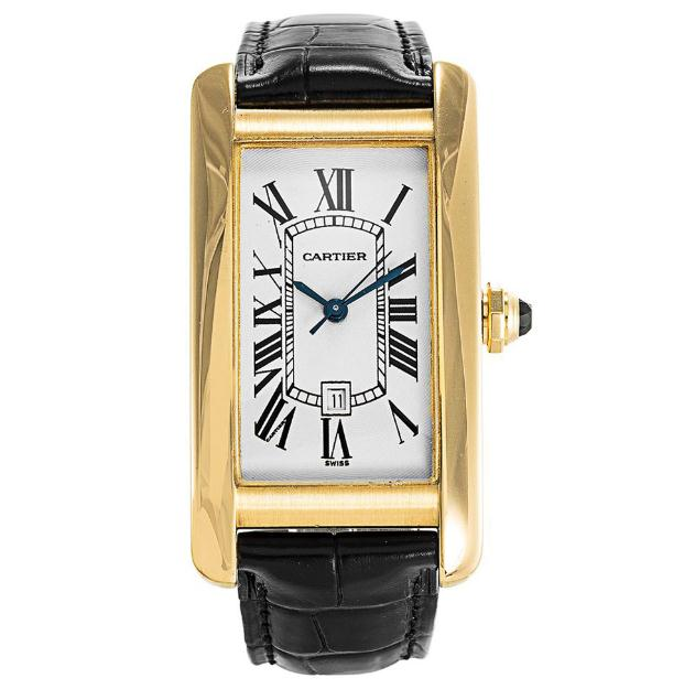 The luxury fake Cartier Tank Américaine watches made from 18k yellow gold.