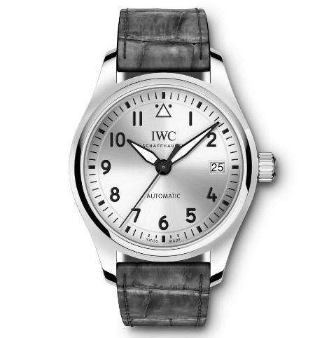 The 36 mm replica IWC Pilot's watches IW324007 have silver-plated dials.