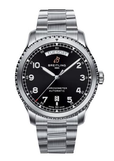 The water resistant fake Breitling Navitimer A45330101B1A1 watches are made from stainless steel.