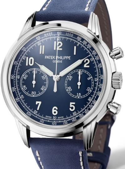 The male copy watches have blue dials.