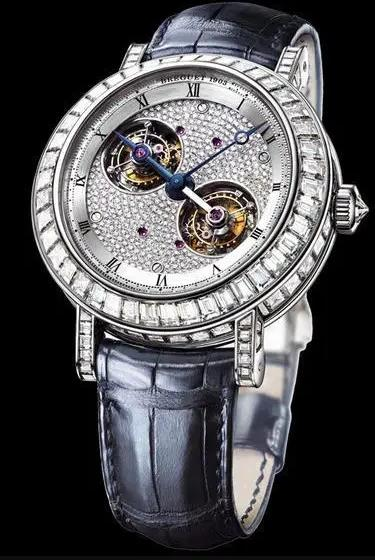 Swiss-made duplication watches have double tourbillon.